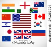 vector illustration of a flags...   Shutterstock .eps vector #291253724