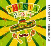 mexican fiesta party invitation ... | Shutterstock .eps vector #291257291