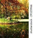 autumn landscape  little island ... | Shutterstock . vector #29125966