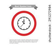 wall clock icon | Shutterstock .eps vector #291272984