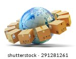international package delivery... | Shutterstock . vector #291281261