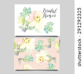 watercolor greeting card...   Shutterstock .eps vector #291292325