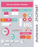 vector flat user interface... | Shutterstock .eps vector #291293687
