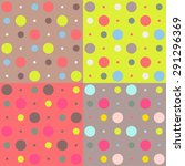 Vector Set Of Four Colorful...