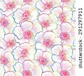 floral seamless pattern. flower ...   Shutterstock .eps vector #291297911
