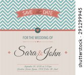 vintage invitation or... | Shutterstock .eps vector #291299945