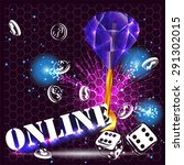 casino party vector   role the... | Shutterstock .eps vector #291302015