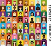 people icons | Shutterstock .eps vector #291302681