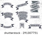 set of hand drawn  ribbons.... | Shutterstock .eps vector #291307751
