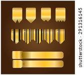 gold ribbon vector | Shutterstock .eps vector #291316145