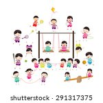 sport for kids healthy lifestyle | Shutterstock . vector #291317375