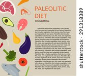 paleo diet. background of meat  ... | Shutterstock .eps vector #291318389