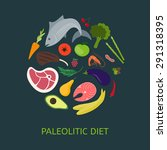paleo diet. products included... | Shutterstock .eps vector #291318395