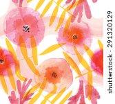 modern floral seamless pattern... | Shutterstock .eps vector #291320129