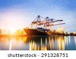 trade port at sunrise | Shutterstock . vector #291328751