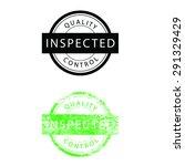 stamp grunge vintage inspected...   Shutterstock .eps vector #291329429