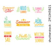 set of colored vintage retro... | Shutterstock .eps vector #291345821