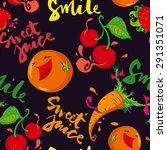 seamless pattern. vector fruit. ... | Shutterstock .eps vector #291351071