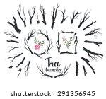 rustic decorative vector design.... | Shutterstock .eps vector #291356945