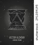 Vector Geometric Alchemy Symbo...