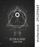 vector geometric alchemy symbol ... | Shutterstock .eps vector #291359669