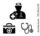 doctor icons | Shutterstock .eps vector #291361139