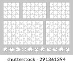 vector set of various puzzles... | Shutterstock .eps vector #291361394