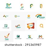 abstract company logo mega... | Shutterstock . vector #291365987