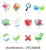 glossy and colourful web icons... | Shutterstock .eps vector #29136838