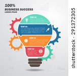 business concept   infographic  ... | Shutterstock .eps vector #291372305