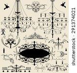 set of vintage vector elements | Shutterstock .eps vector #291374021
