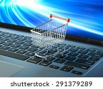 on line purchase shopping cart... | Shutterstock . vector #291379289