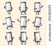 cartoon smartphone character... | Shutterstock .eps vector #291382595