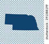map of nebraska | Shutterstock .eps vector #291388199