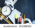 school supplies on the... | Shutterstock . vector #291388301