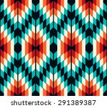 tribal seamless colorful... | Shutterstock .eps vector #291389387