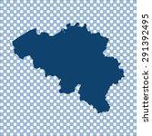 map of belgium | Shutterstock .eps vector #291392495