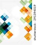 square shape mosaic pattern... | Shutterstock .eps vector #291394019