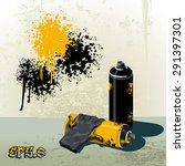 spray cans to paint graffiti... | Shutterstock .eps vector #291397301