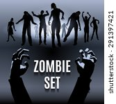Set Of Zombie Male And Female...