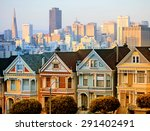 the painted ladies of san... | Shutterstock . vector #291402491