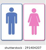 blue and pink restrooms sign | Shutterstock .eps vector #291404207