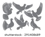the figure shows a dove | Shutterstock .eps vector #291408689