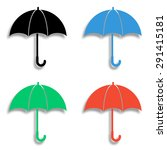 umbrella icon with shadow  ... | Shutterstock .eps vector #291415181