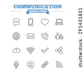 communication linear icons set. ... | Shutterstock .eps vector #291431831