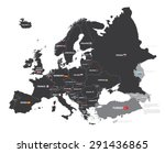 europe map with country names... | Shutterstock .eps vector #291436865