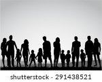 family silhouettes. | Shutterstock .eps vector #291438521