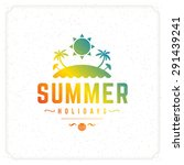 summer holidays typography for... | Shutterstock .eps vector #291439241