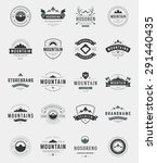 set mountains logos  badges and ... | Shutterstock .eps vector #291440435