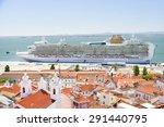 view of big passenger ship in... | Shutterstock . vector #291440795